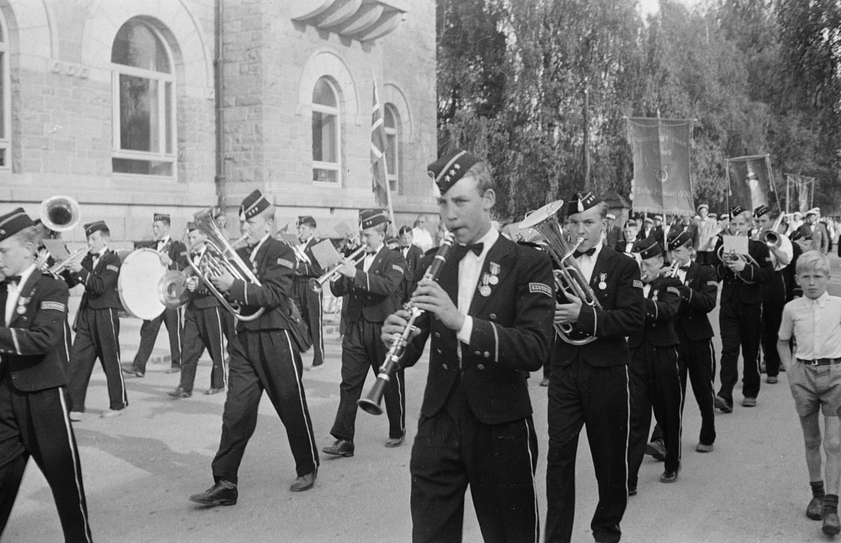 Sangens og musikkens dag 1954. Elverum.