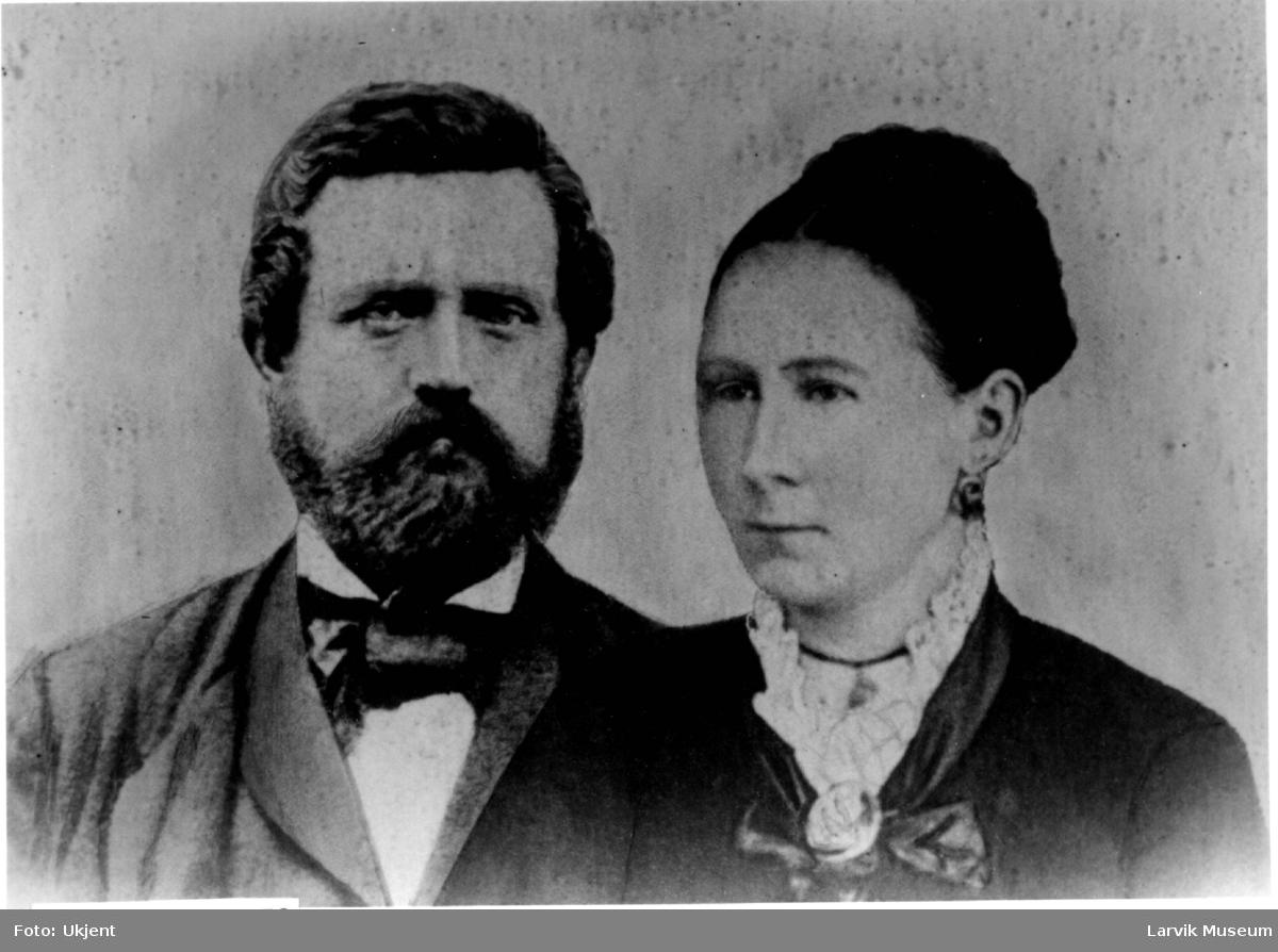 portrett, gruppe, skipper Ole Tobias Lorentzen og hustru