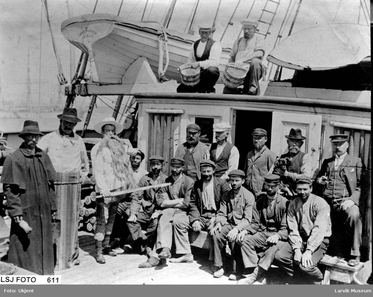 Linjedåp ombord på barken Emma Parker