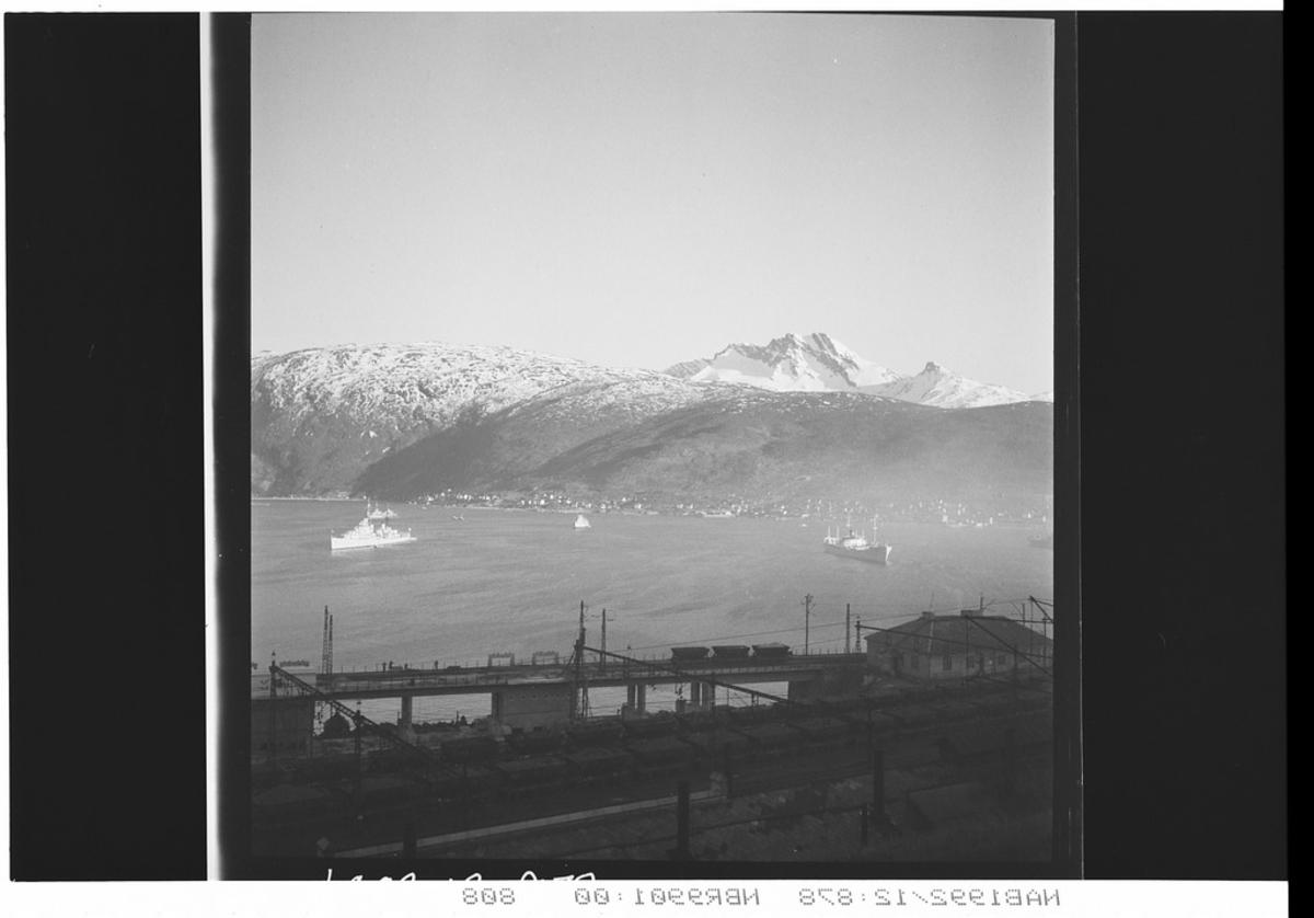 LKAB Viadukt Marinefartøy på Narvik havn Flåtebesøk