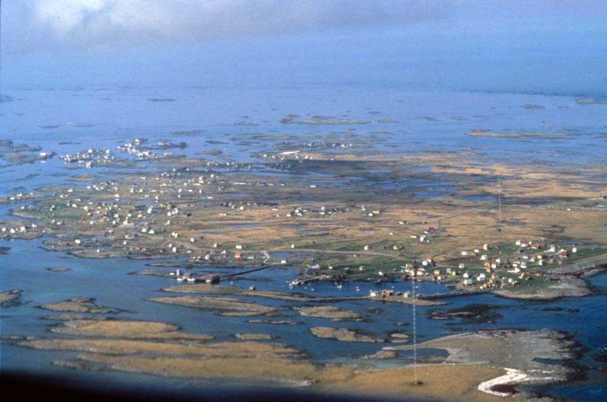 Luftfoto. Røst, Røstlandet.