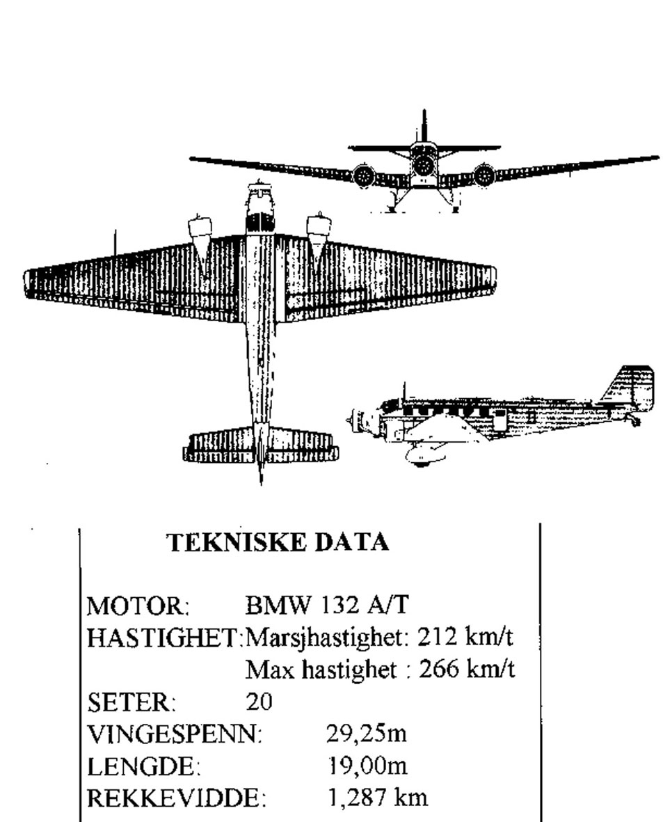 Treplanskisse, Junkers JU-52/3M.
