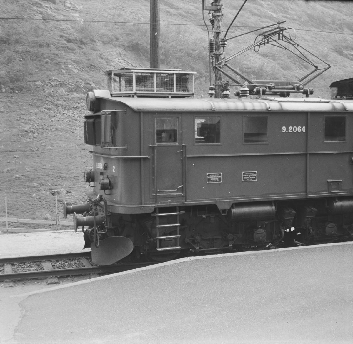 Elektrisk lokomotiv type El 9 på Myrdal stasjon