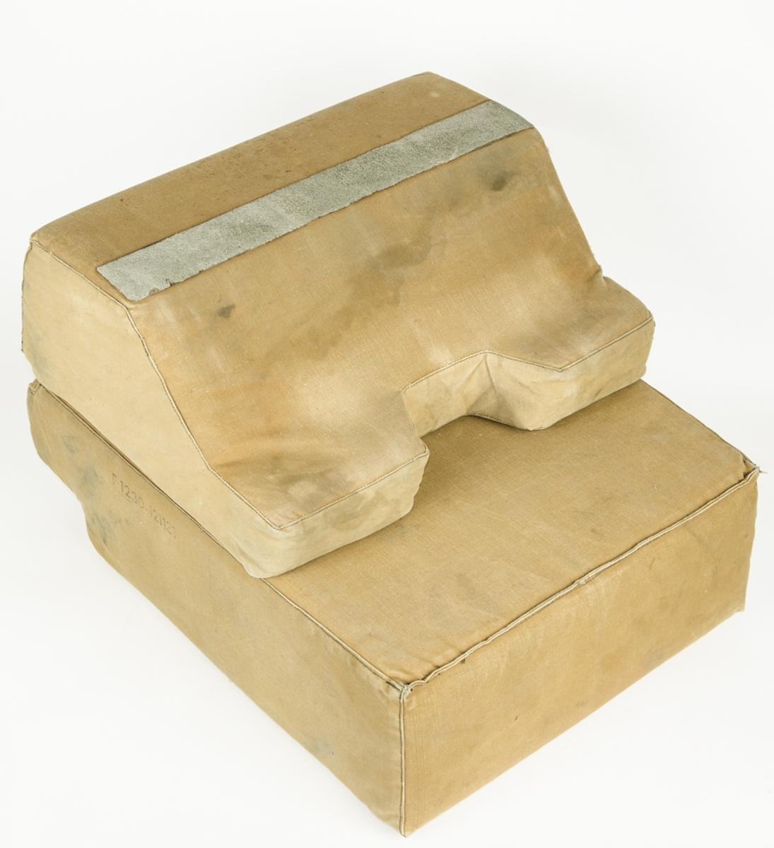 Sittdyna i tyg för flygplansstol.