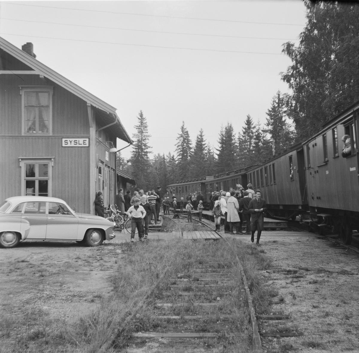 A/L Hølandsbanens veterantog til Krøderen på Sysle stasjon.