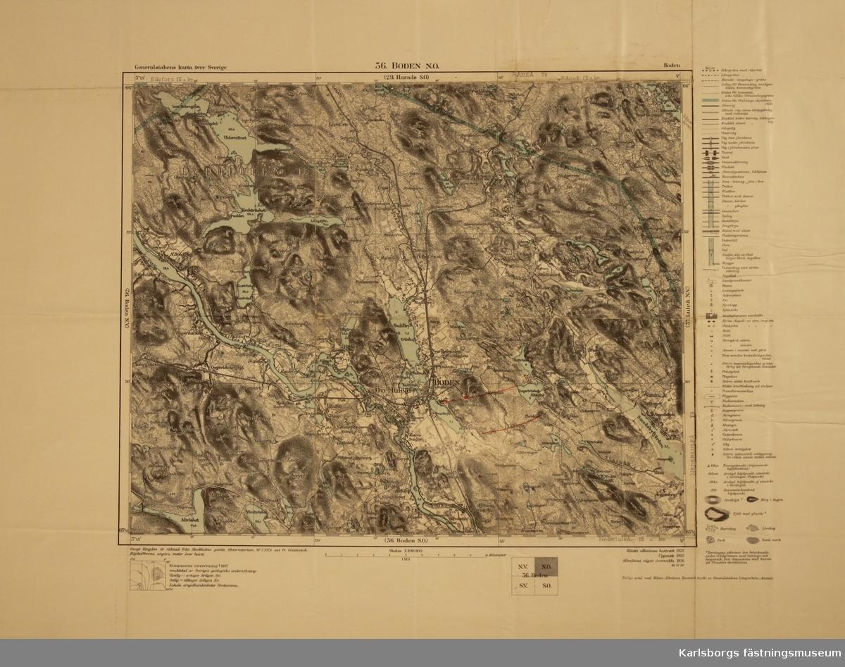 Generalstabens kartor över Sverige