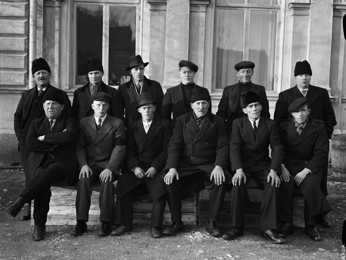 Grupporträtt - män, Uppsala 1937