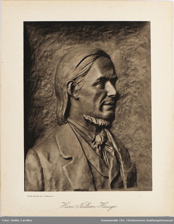 Portrett av Hans Nielsen Hauge, 1/4 fig.