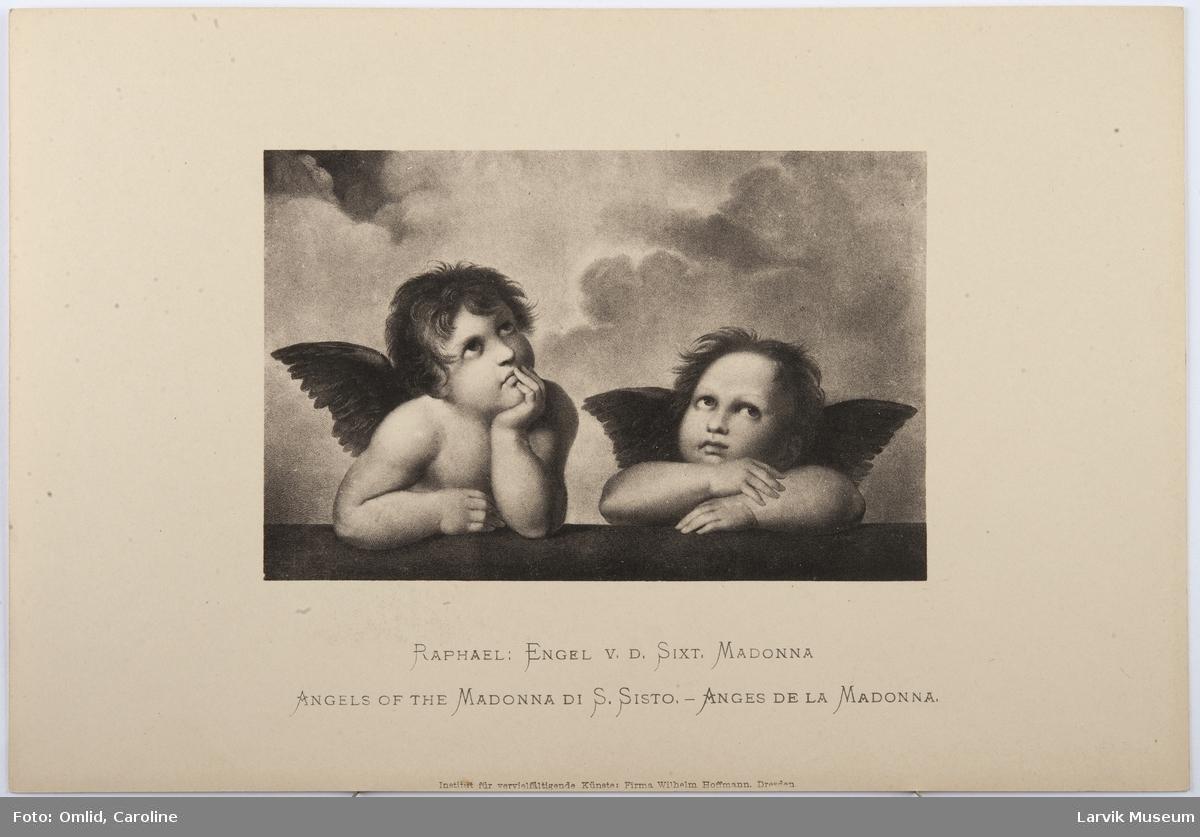 Raphael: Engel v.d. Sixt. Madonnna.