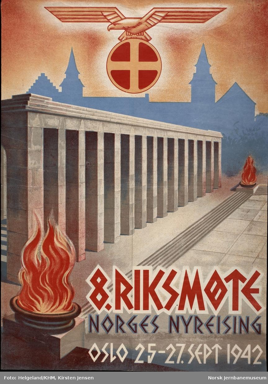 Tekst: 8. riksmøte / Norges nyreising / Oslo 25-27.sept 1942