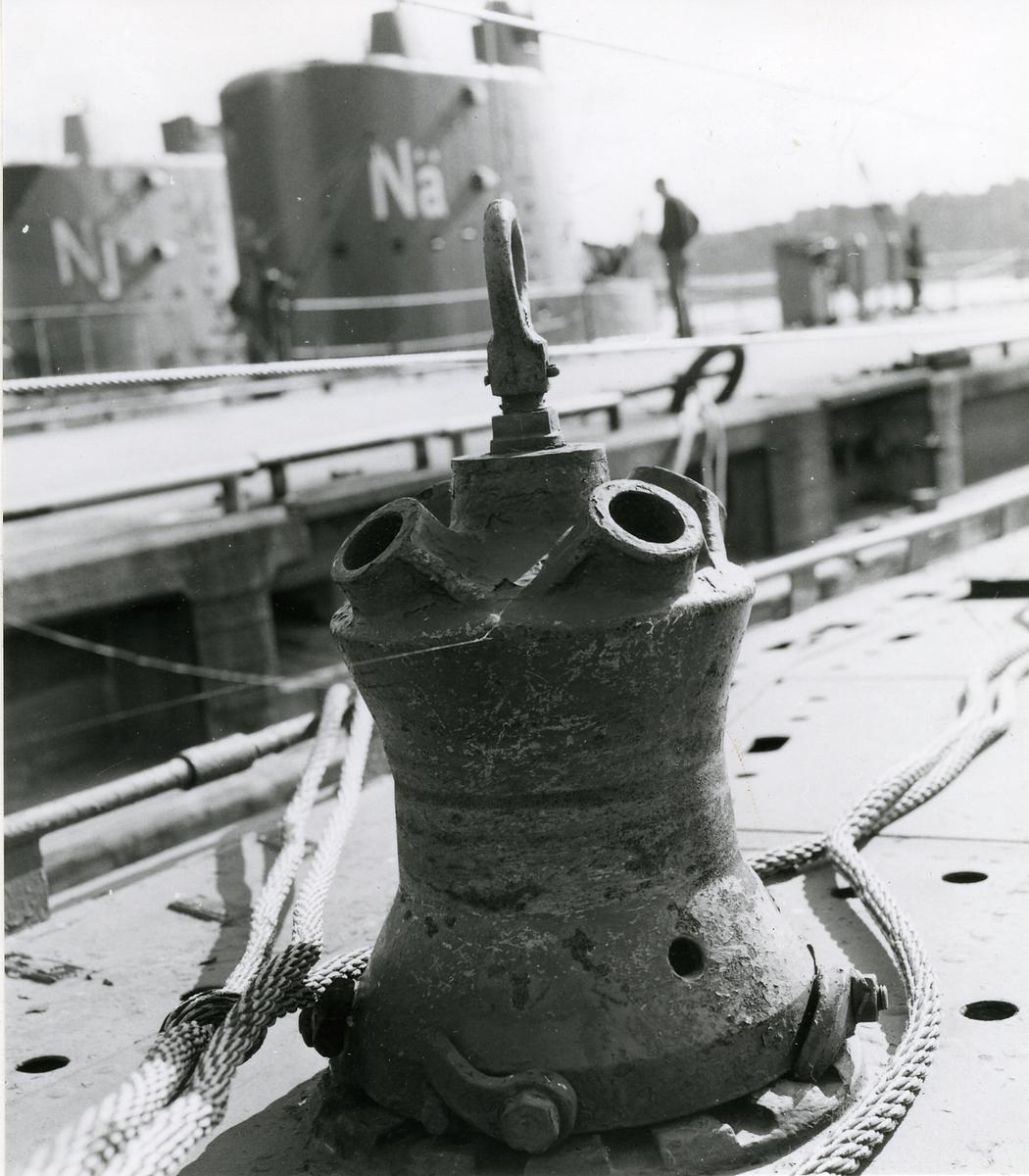 """Foto visande ankarspel ubåten """"Neptun""""."""