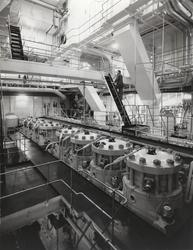 Malmtankmotorfartyget VIRIS av Stockholm, b. 1959. Maskinrum