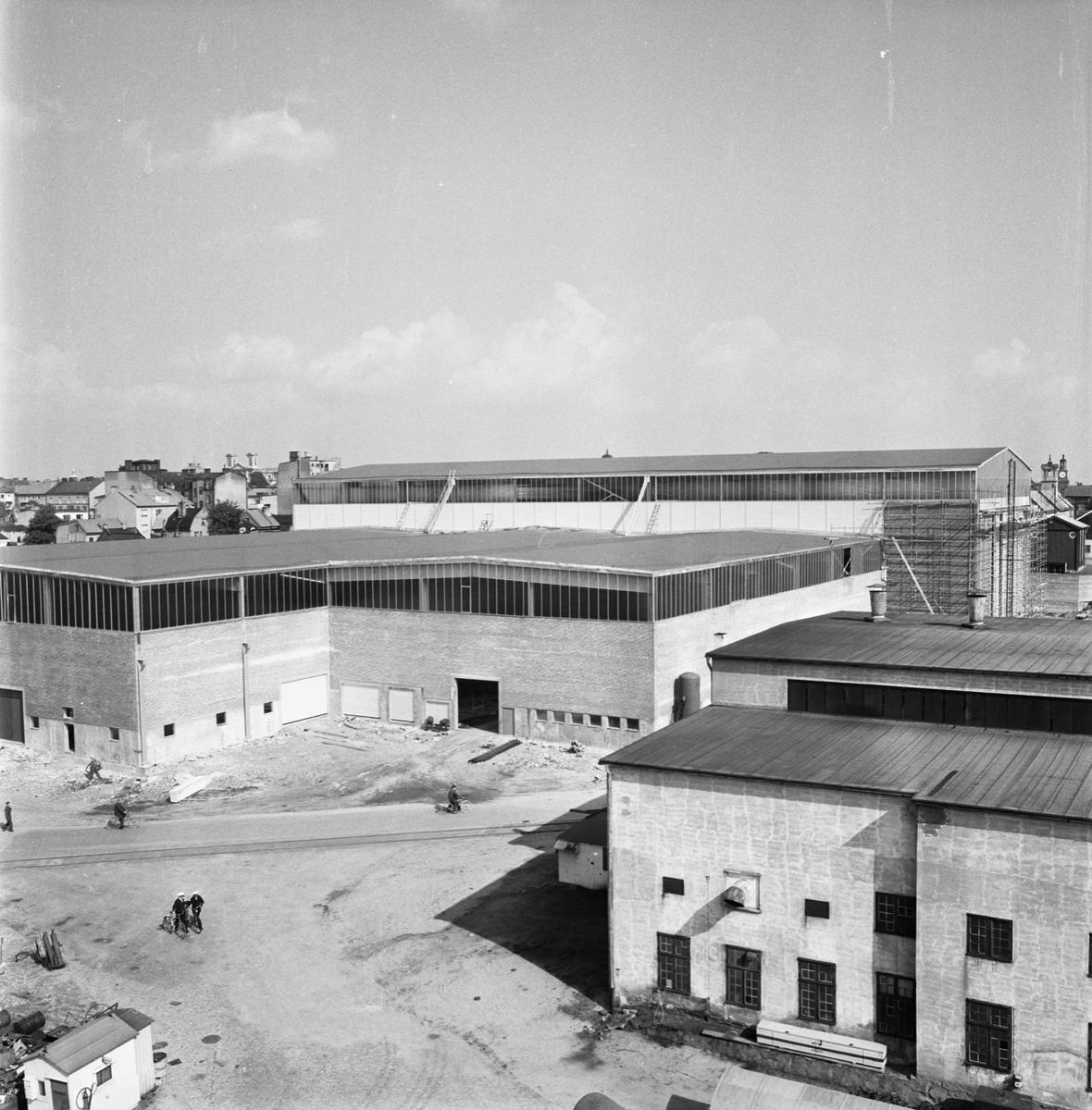 Övrigt: Fotodatum 6/9 1963 Byggnader och Kranar Nyb. området. ext
