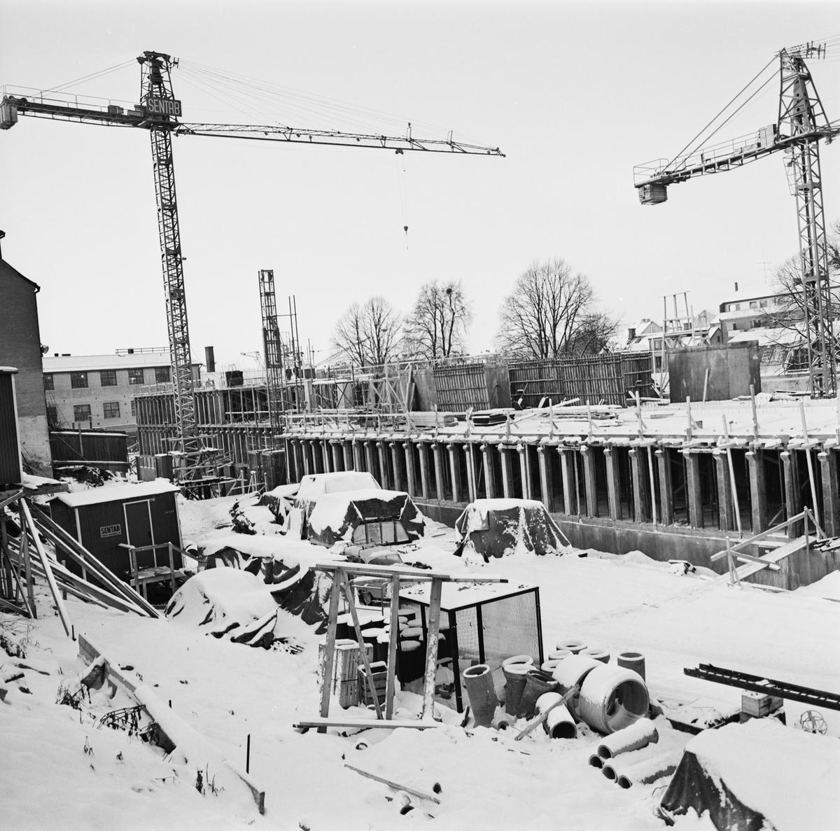 Övrigt: Foto datum: 15/12 1965 Byggnader och kranar Kvarteret Pollux