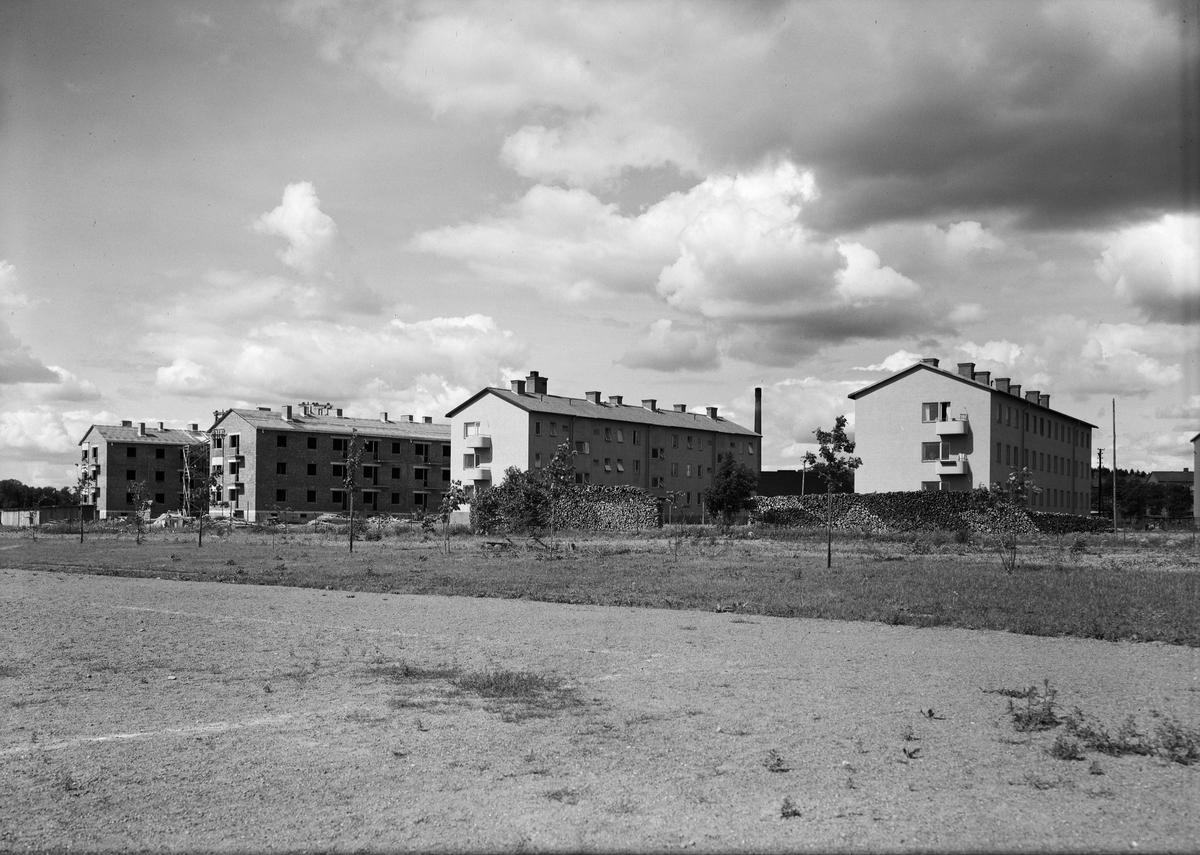 Flerbostadshus under byggnation, kvarteret Rane, Luthagen, Uppsala 1944