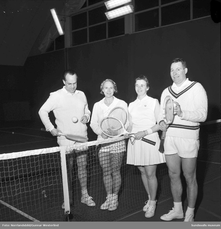 DM-final i mixed i tennishallen med bland andra Larsa Olsson.