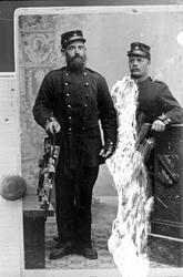 Soldaten Carl Ryberg och en annan soldat