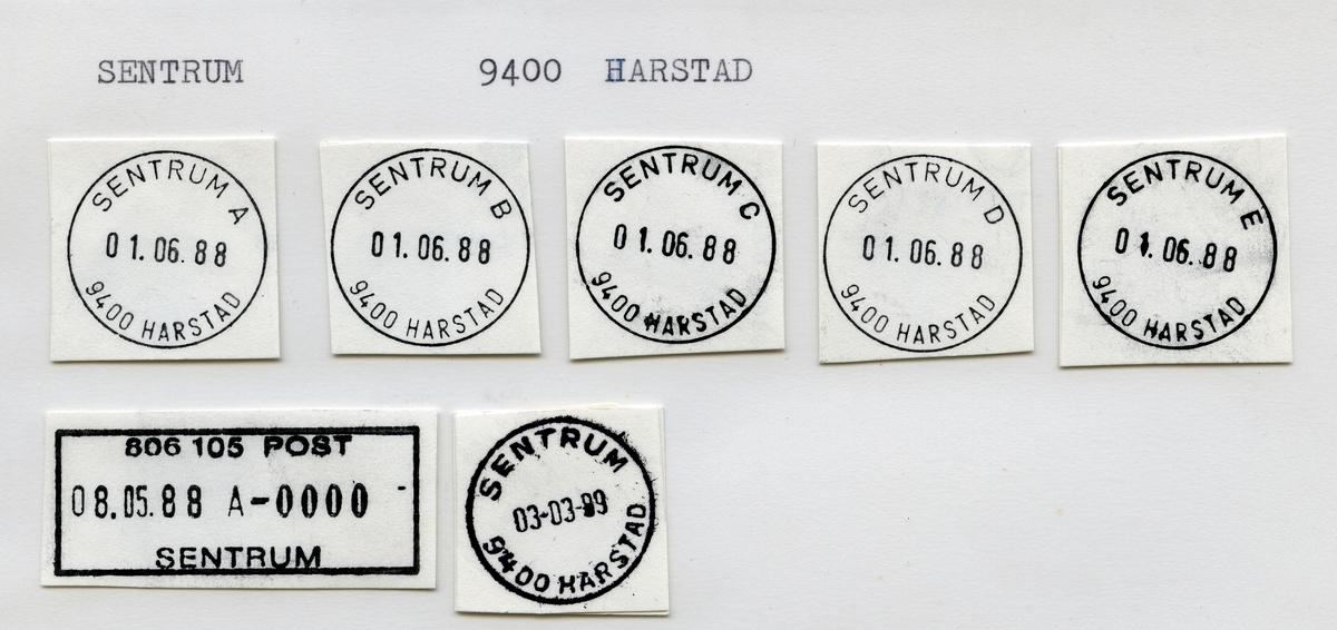 Stempelkatalog  Sentrum 9400 Harstad, Harstad kommune, Troms