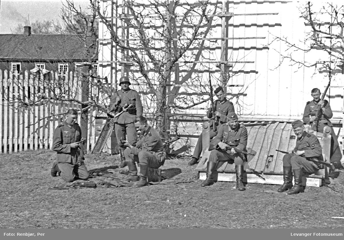 Tyske soldater har etablert seg i Levangerområdet