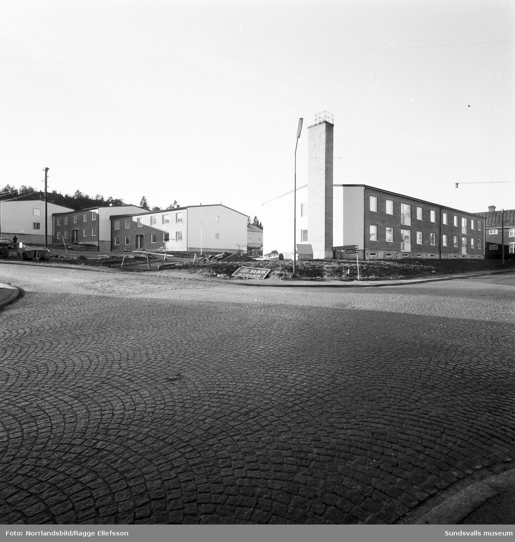 Nybyggnation av kvarteret Netto, mot Trädgårdsgatan.