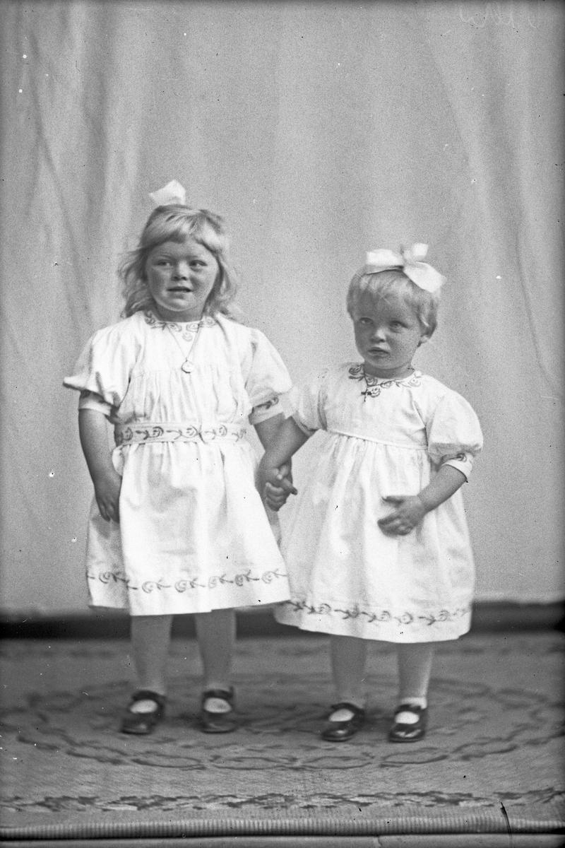 Portrett: Martin Rasmussens to døtre.