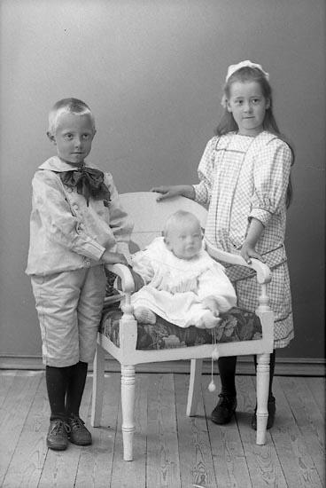 """Enligt fotografens journal nr 1 1904-1908: """"Lundins barn Norrköping""""."""