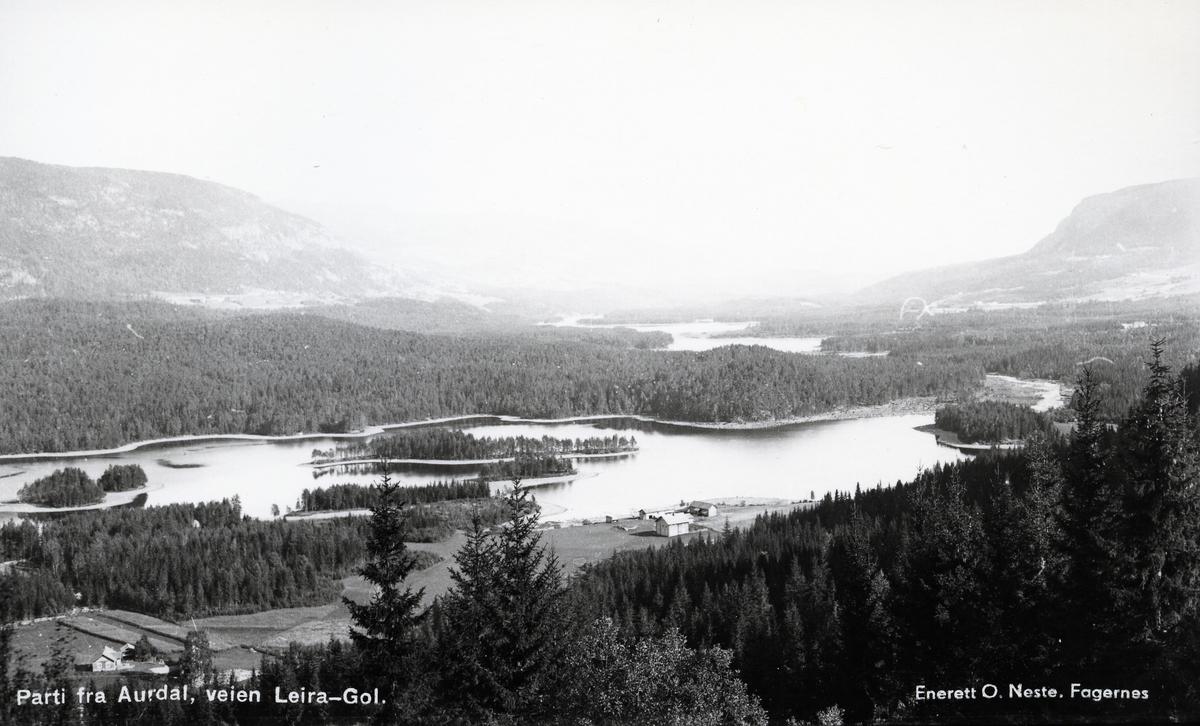 Oversiktsbilde Fløafjorden, Aurdal, Nord-Aurdal.