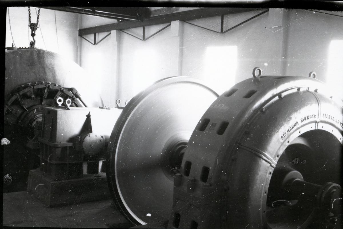 Interiør fra Faslefoss kraftverk