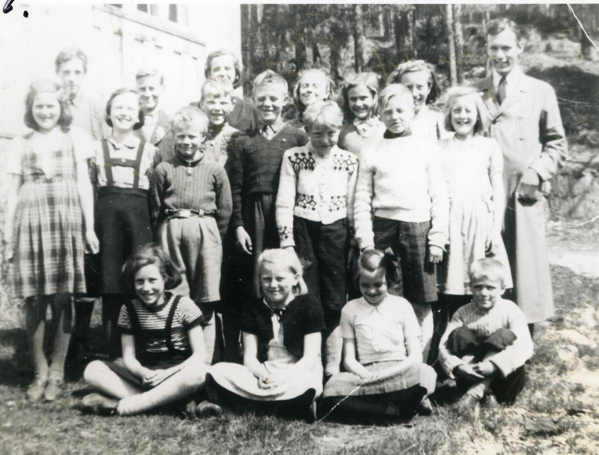 Skoleklasse ved Sørskogen skole
