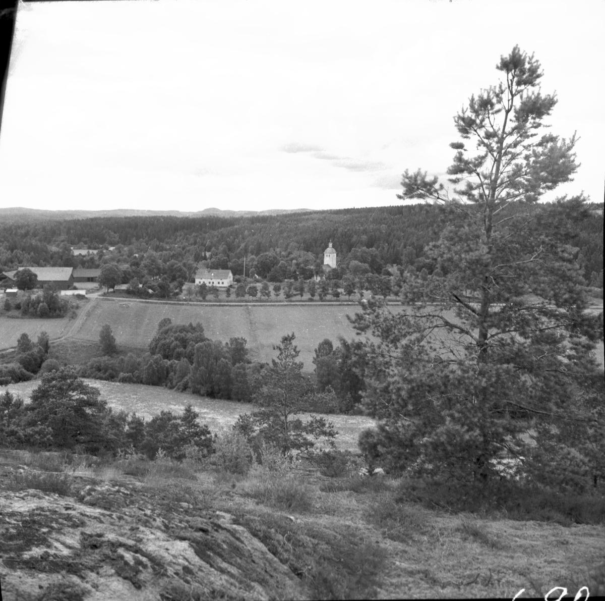Utsikt från fornborgen mot västsydväst  Steneby