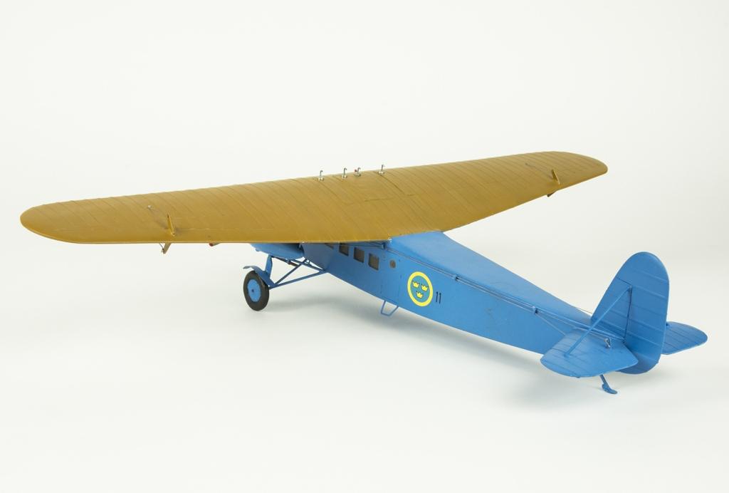 Flygplansmodell av Tp 10 Fokker