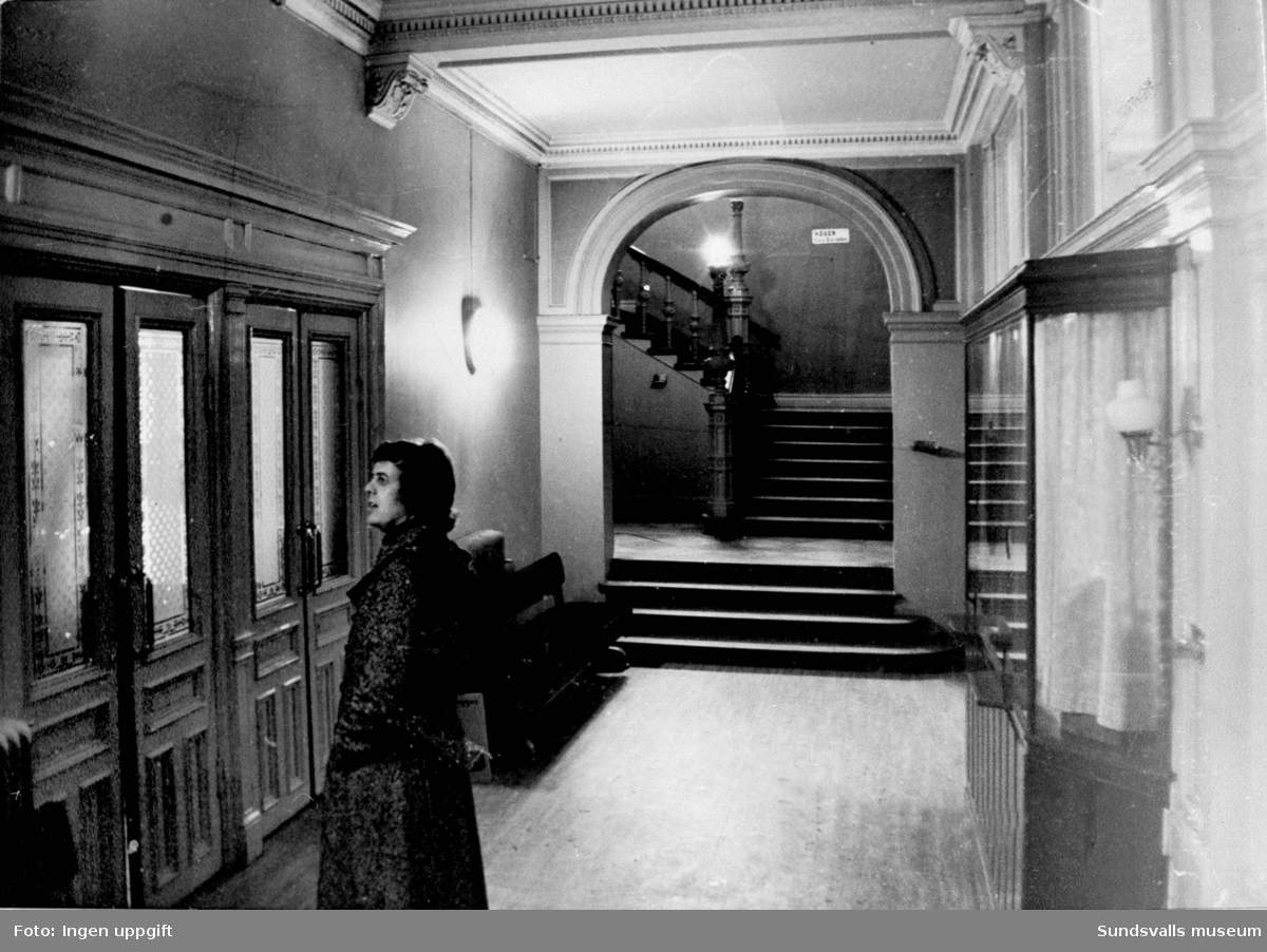 Sundsvalls teater, före restaureringen 1975.