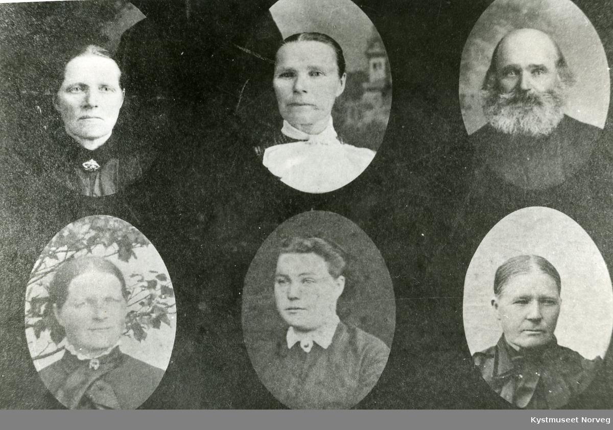 Søsken, øverst til høyre: Nils Isaksen, nederst til venstre eller til høyre: Anne Marie Isaksdatter