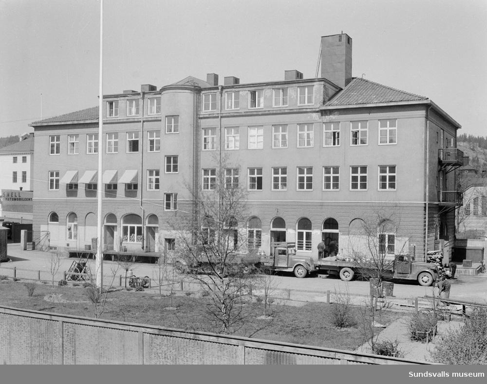 Sundsvalls mjölkcentral SMC. Rådhusgatan 37. Exteriör och interiörer.