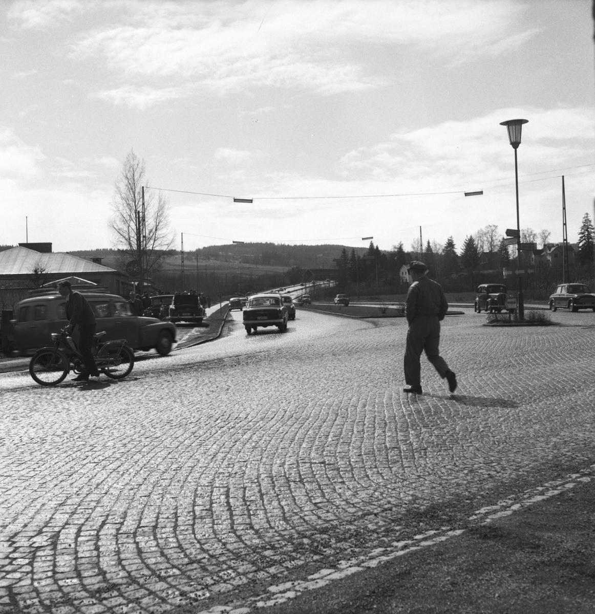 Södra infarten till Huskvarna under 1960-talet.