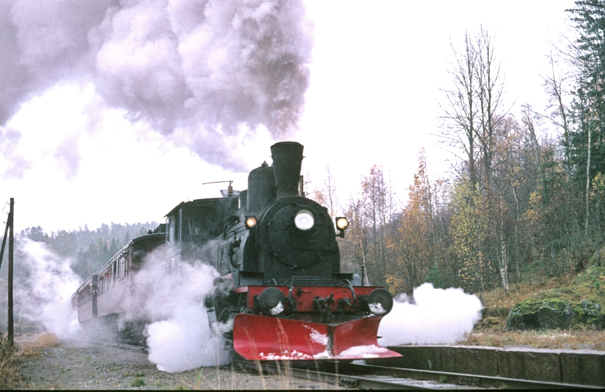 Veterantog Drammen - Rødberg ved Kjerre. Numedal. Damplok 21b 252