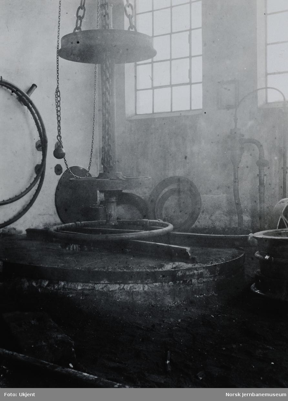 Verkstedet Sundland : hjulomlegging i kokeriet