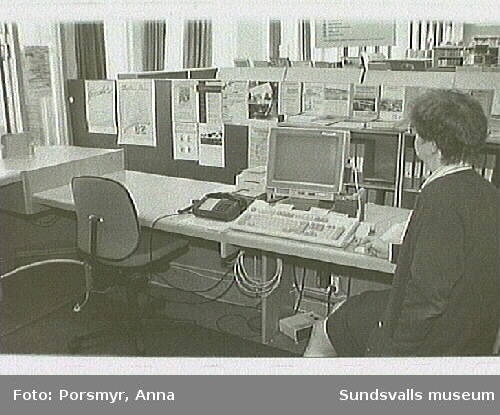 Dokumentation av biblioteksfilialen i Kvissleby, Njurunda.