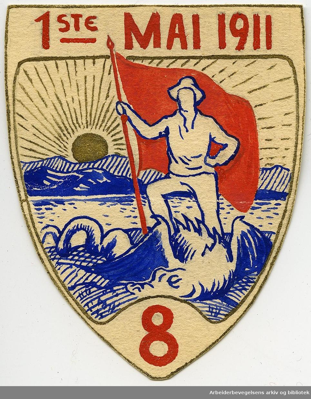 Arbeiderpartiets 1. mai-merke fra 1911