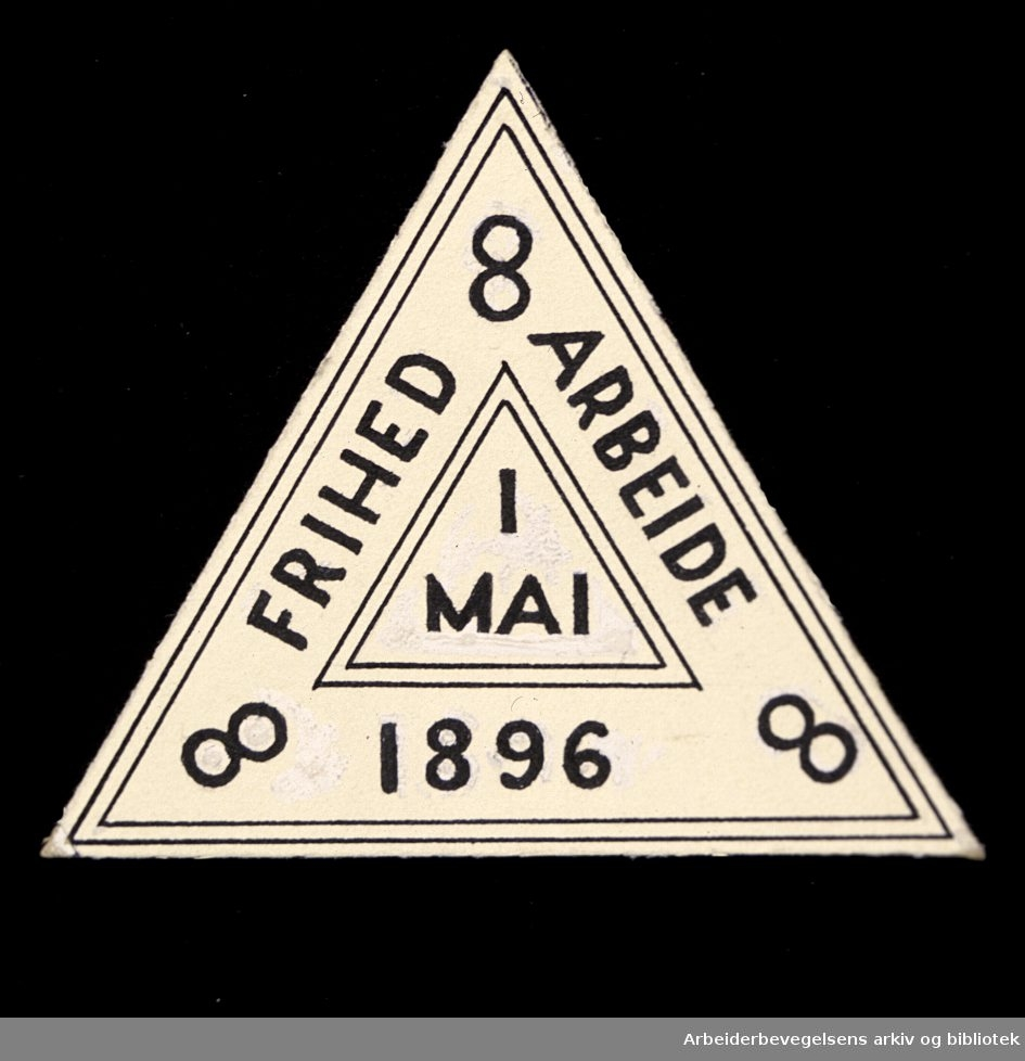 Arbeiderpartiets 1. mai-merke fra 1896
