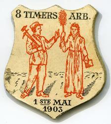 Arbeiderpartiets 1. mai-merke fra 1903