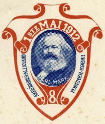 Arbeiderpartiets 1. mai-merke fra 1912