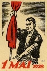 Arbeiderpartiets 1. mai-merke fra 1928