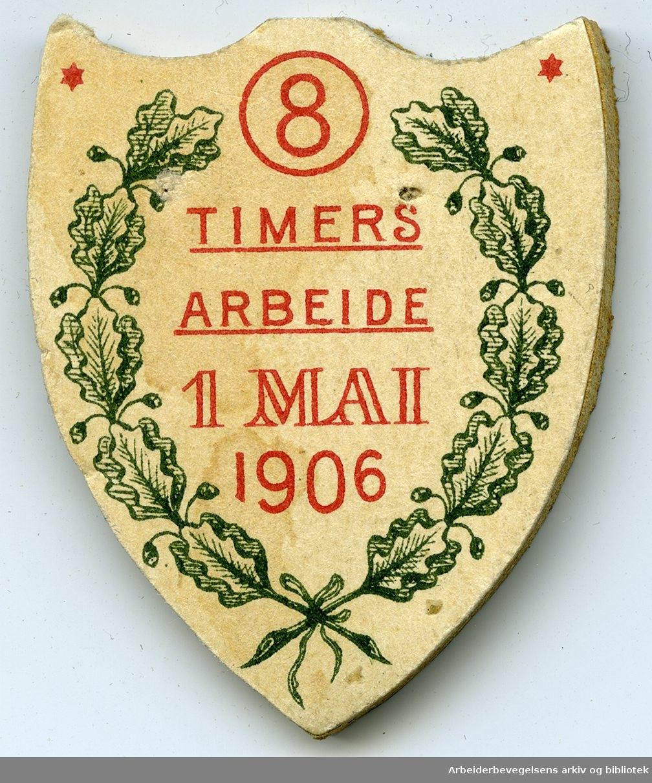 Arbeiderpartiets 1. mai-merke fra 1906