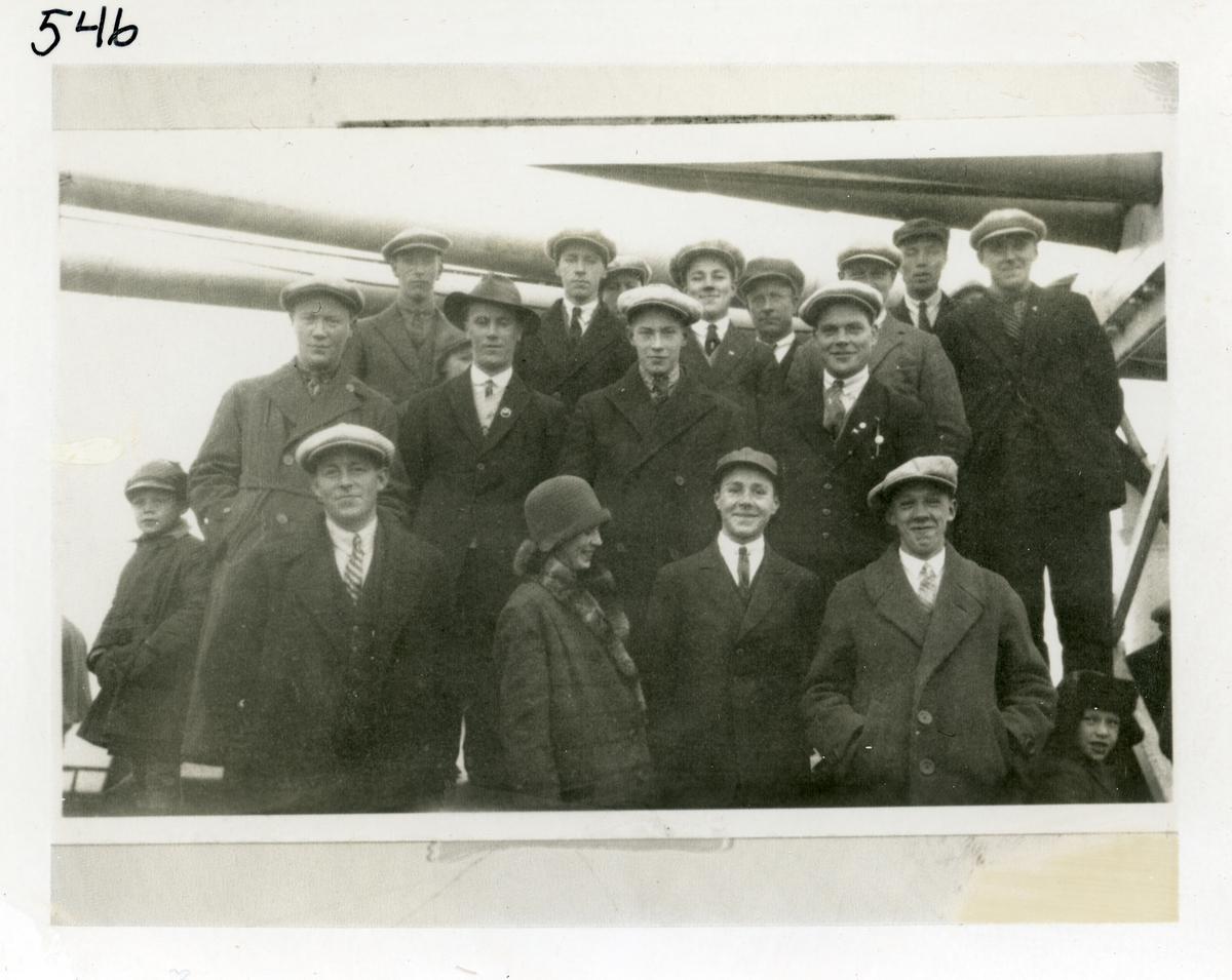 Utvandrere fra Ulnes, Nord Aurdal, i 1929.