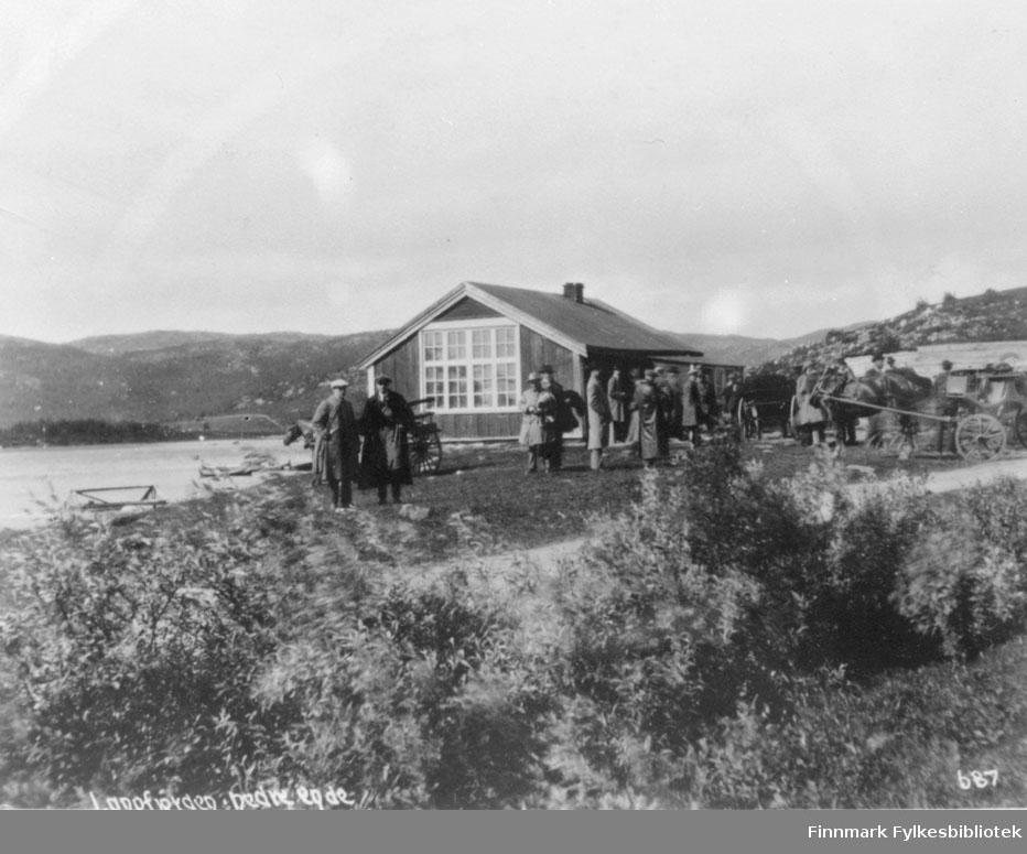 Sandnes skole ved Langfjorden 1867/1944.