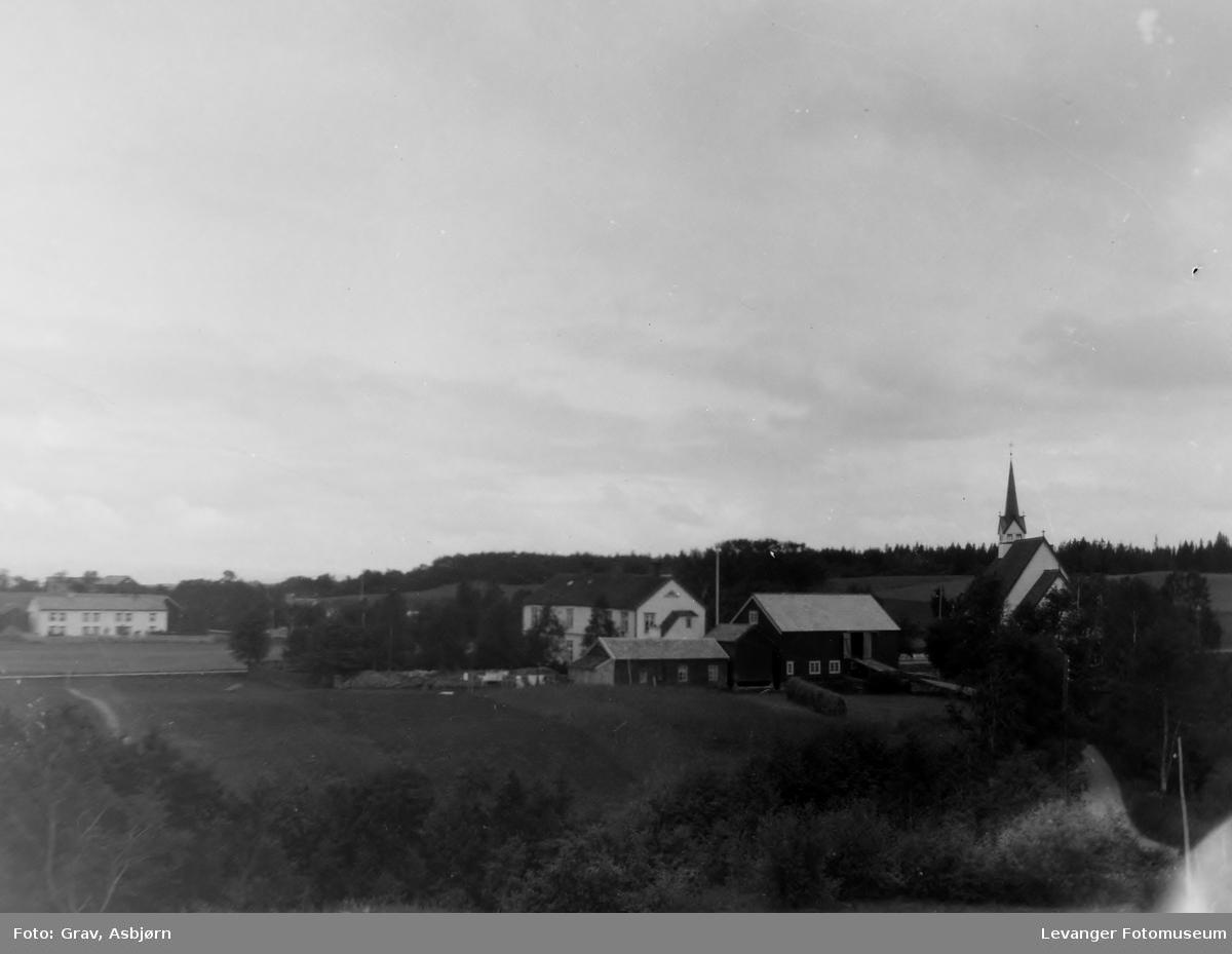 Landskap med kirke