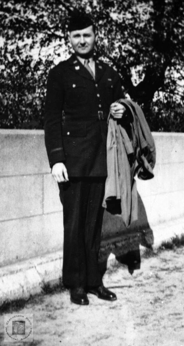 Amerika soldat. Arthur Kron, USA.