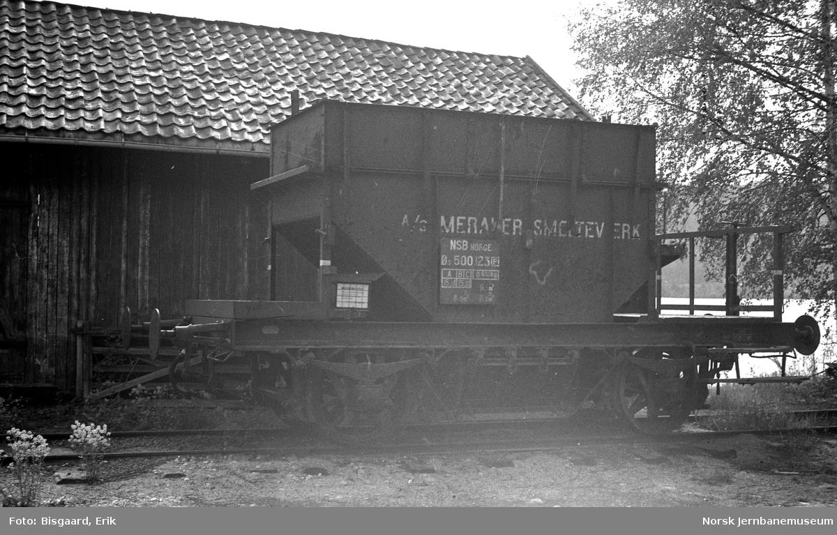 Godsvogn Ø3 500123 på Krøderen stasjon