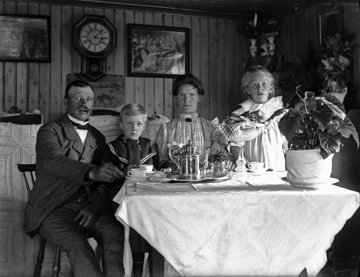 """""""Familjen Ekborg, kafferep"""", Hamby, Bred socken, Uppland, 30 maj 1909"""